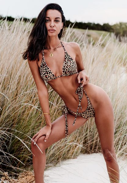 "4 in 1 Wende-Bikini ""California"" rosa/leopard von Obsessive"
