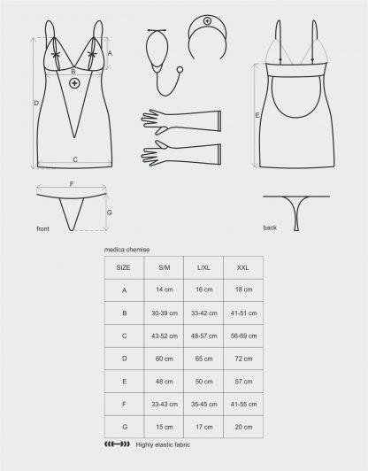 """5-teiliges Set Krankenschwester-Kleid """"Medica"""""""