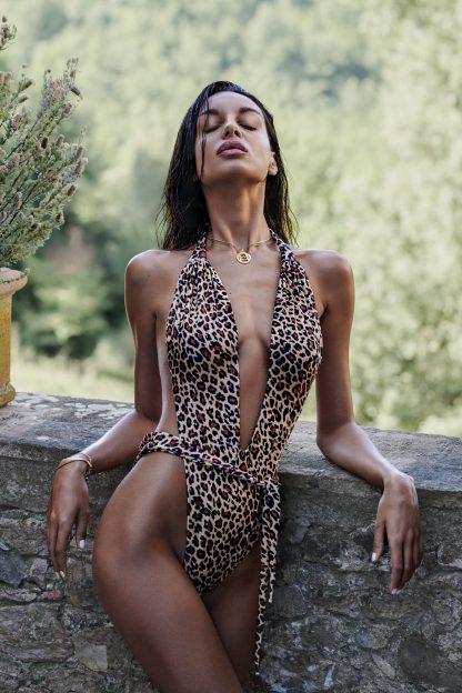"Badeanzug ""Cancunella"" leopard von Obsessive"