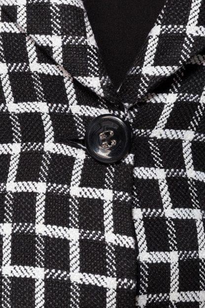 Belsira Premium Übergangsmantel schwarz weiß