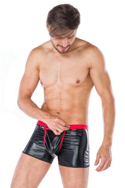 """Boxershorts """"MC/9062"""" schwarz rot von Andalea"""