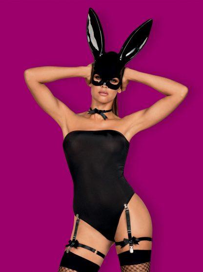 Bunny Kostüm schwarz von Obsessive