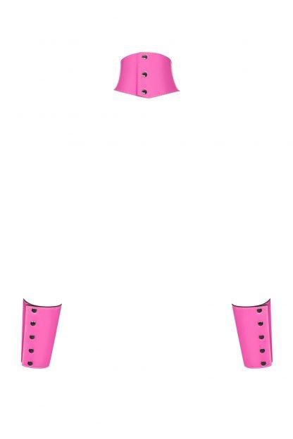"Cuffs & Choker ""Lollypopy"" pink von Obsessive"