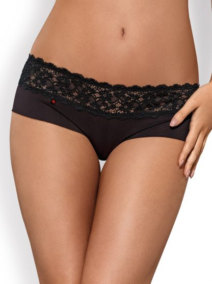 """Duo-Pack """"Lacea"""" Shorties rot schwarz von Obsessive"""