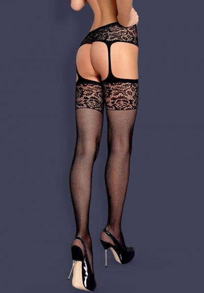 """Garter Stockings """"S500"""" in schwarz von Obsessive"""