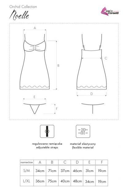 """Nachthemd """"Noelle"""" LC90265 lila von LivCo Corsetti"""