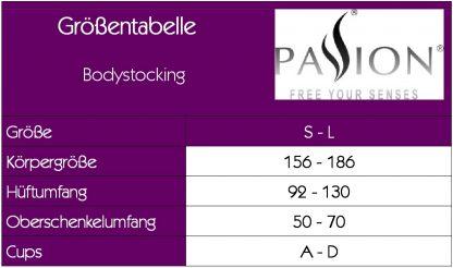 Netz Bodystocking Catsuit offen ouvert schwarz von Passion