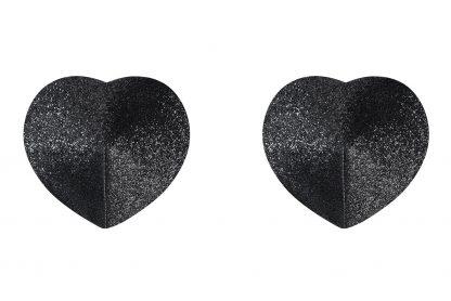 """Nipple Covers """"A751"""" schwarz Herzform von Obsessive"""