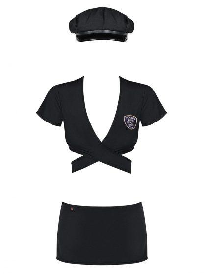 Polizistin Kostüm schwarz von Obsessive