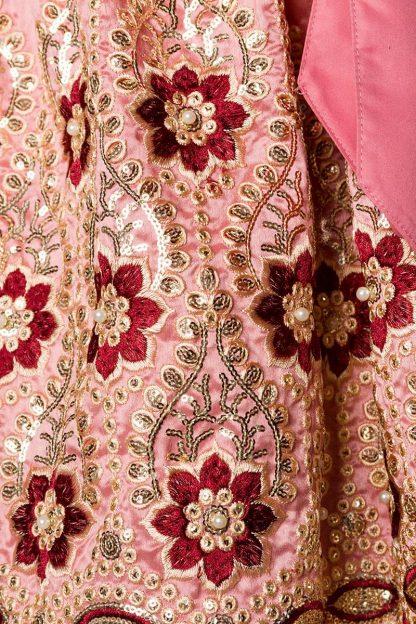 Premium Dirndl & Schürze rosa rot von Dirndline
