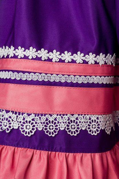 Satin Premium Dirndl & Schürze rosa lila von Dirndline