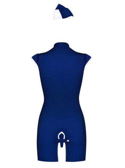 Stewardess Kostüm blau von Obsessive