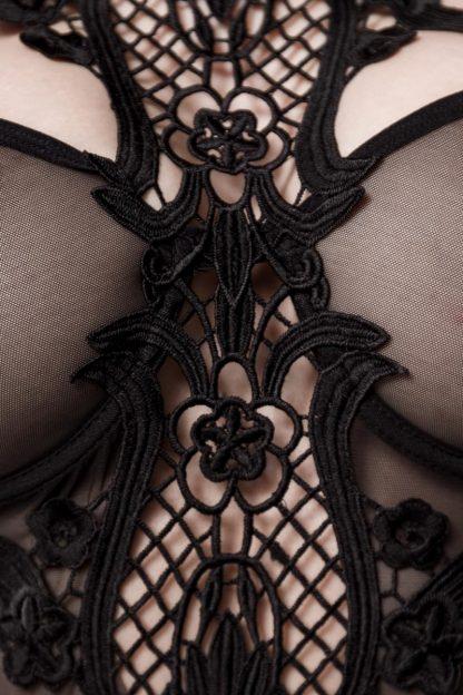 Straps-Corsage aus Netz schwarz von Grey Velvet