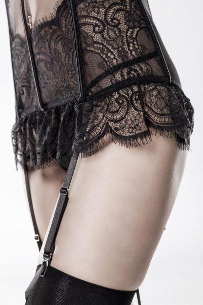 Straps-Corsage schwarz aus Spitze von Grey Velvet