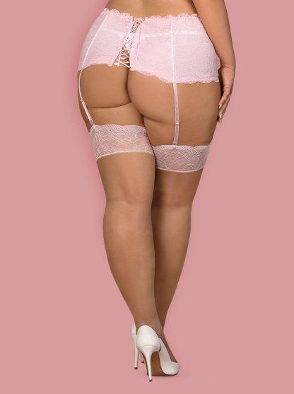 "Straps-Strümpfe ""Girlly"" beige rosa von Obsessive"