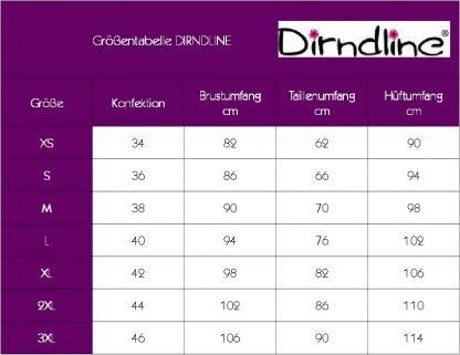 Trachten-Rock braun Veloursleder-Optik von Dirndline