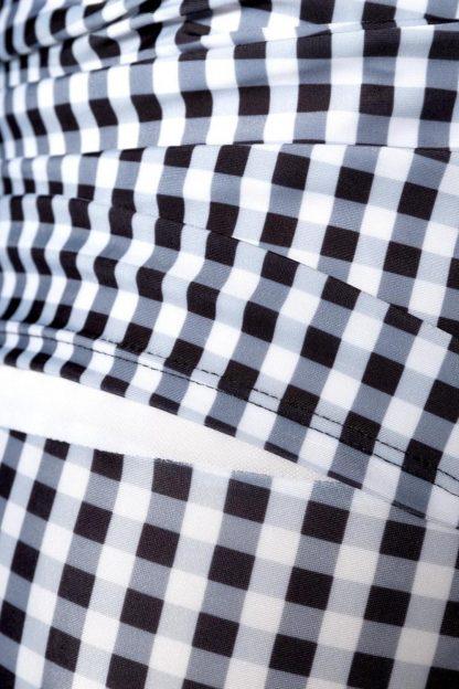 Vintage Badeanzug ❀ schwarz weiß kariert von Belsira