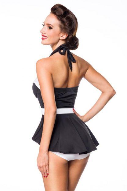 Vintage Badekleid schwarz weiß von Belsira