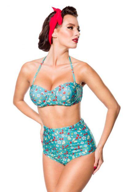 Vintage Bikini-Höschen blau mit Kirschen von Belsira