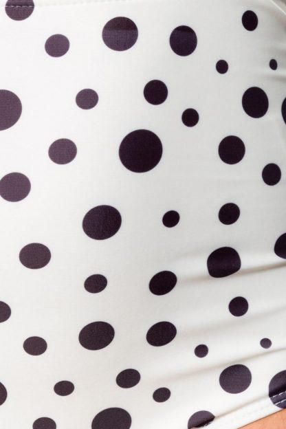 Vintage Bikini-Höschen creme schwarz Punkte von Belsira