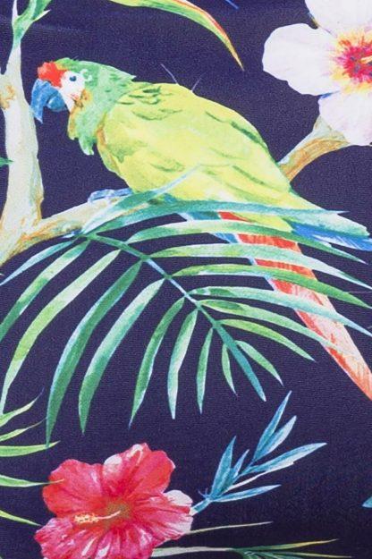 Vintage Bikini-Höschen dunkelblau gemustert von Belsira