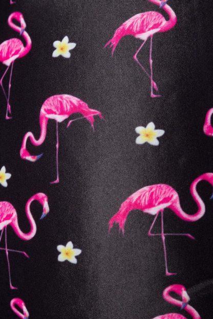 Vintage Highwaist Bikini-Höschen ⛱ Flamingo Motiv von Belsira