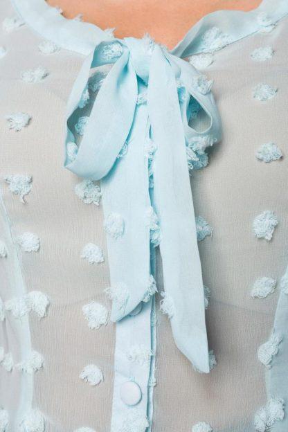 Vintage Schluppenbluse hellblau von Belsira