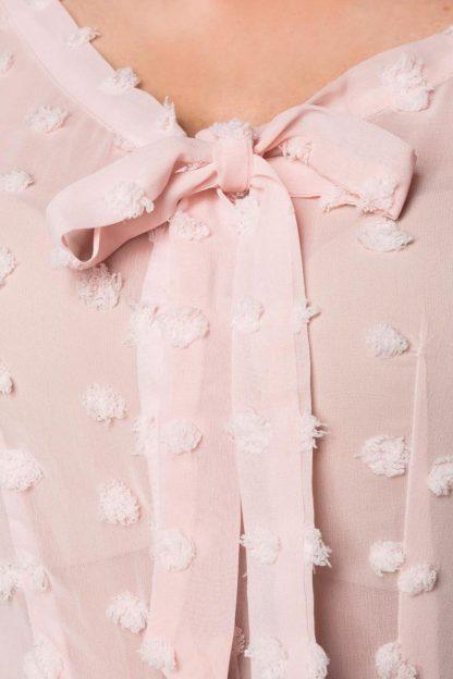 Vintage Schluppenbluse rosa von Belsira