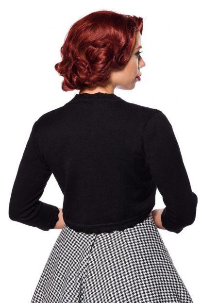 Vintage Strickjacke schwarz Dreiviertelärmel von Belsira