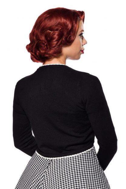 Vintage Strickjacke schwarz lange Ärmel von Belsira