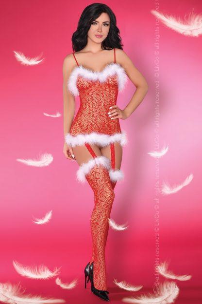 Weihnachts Bodystocking Catriona LC 17280 von LivCo