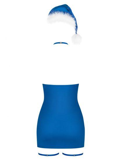 """Weihnachts-Chemise """"Kissmas"""" blau von Obsessive"""