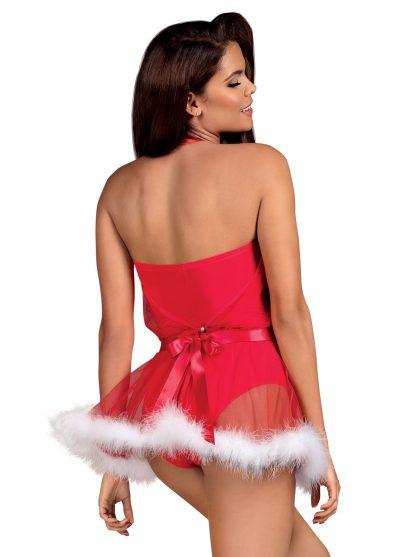 """Weihnachts-Kostüm """"Santastic Dress"""" rot von Obsessive"""