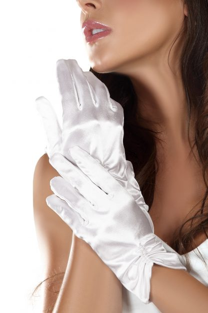 weiße Handschuhe von LivCo Corsetti