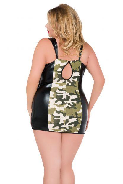 "Wetlook-Chemise ""Z/5032"" schwarz camouflage Andalea"